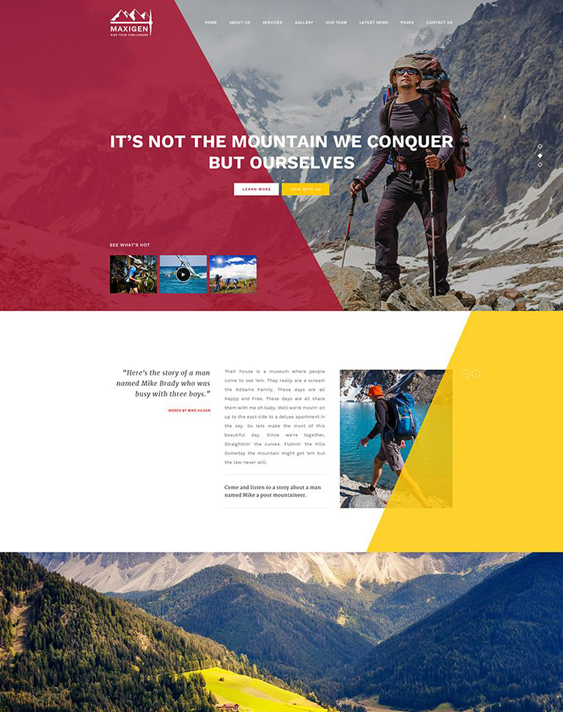 maxigen sports wordpress themes
