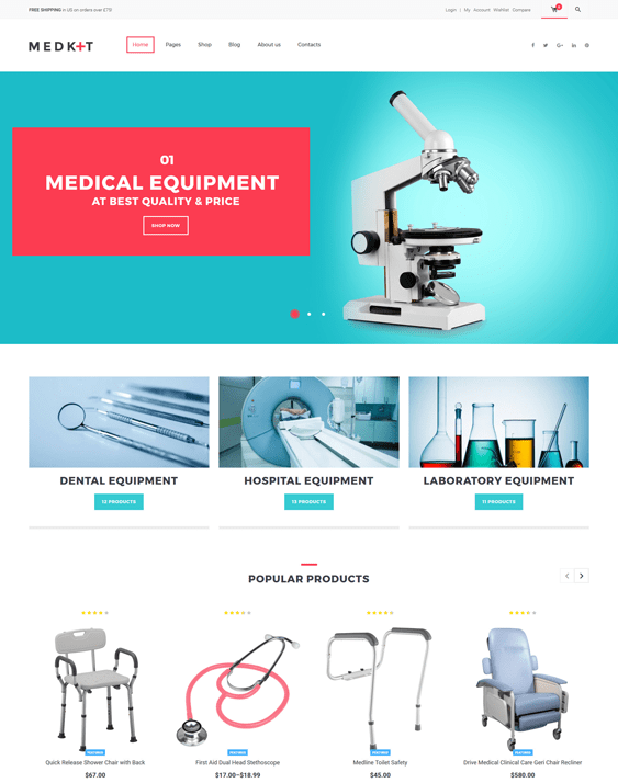 medkit medical wordpress themes