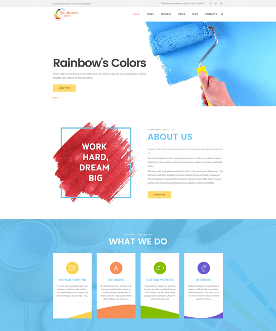 rainbow wordpress themes construction companies building contractors