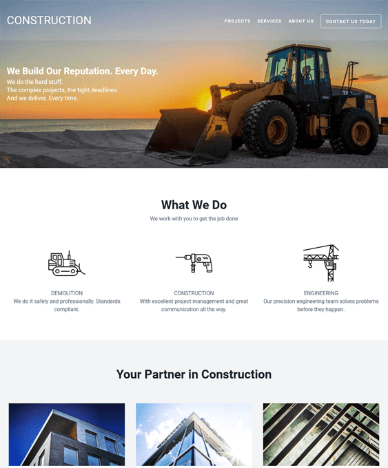 sitepoint wordpress themes construction companies building contractors