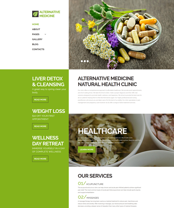 joomla templates health nutrition websites
