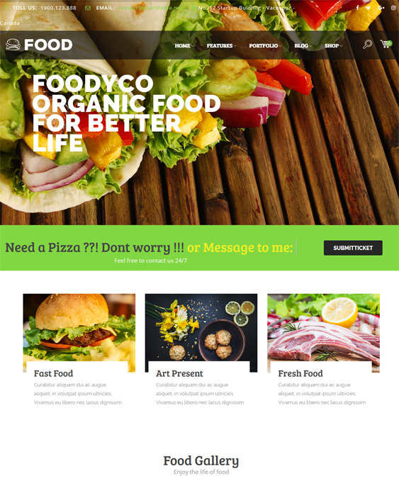 foodyco restaurant wordpress themes
