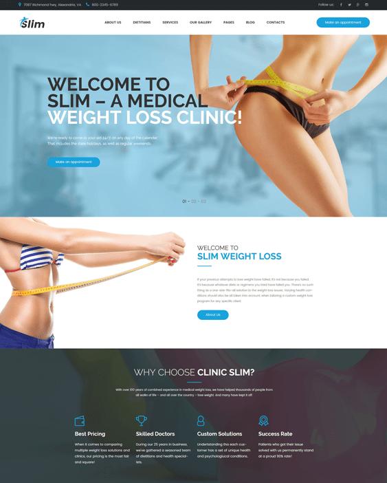 slim-weight-loss--fitness-wellness health nutrition wordpress themes