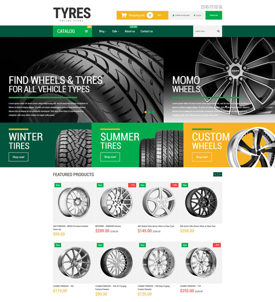 wheels-and-tyres-car vehicle automotive shopify themes