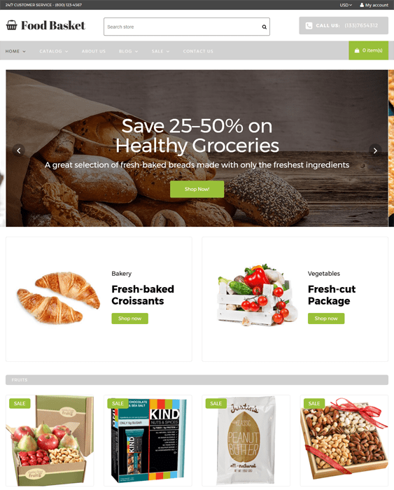 food drink shopify themes basket