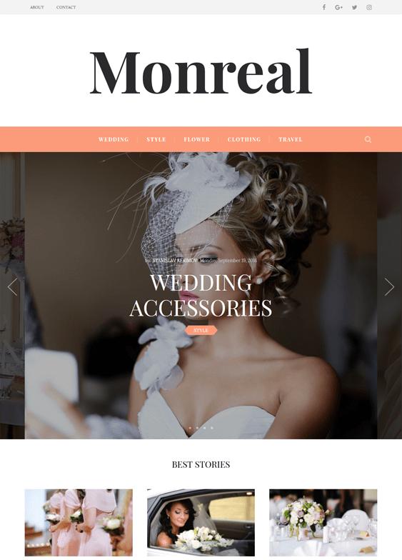monreal wedding wordpress themes