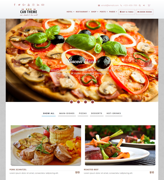 can restaurant wordpress themes
