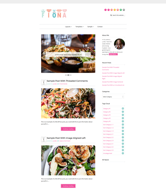 fiona food drink wordpress themes