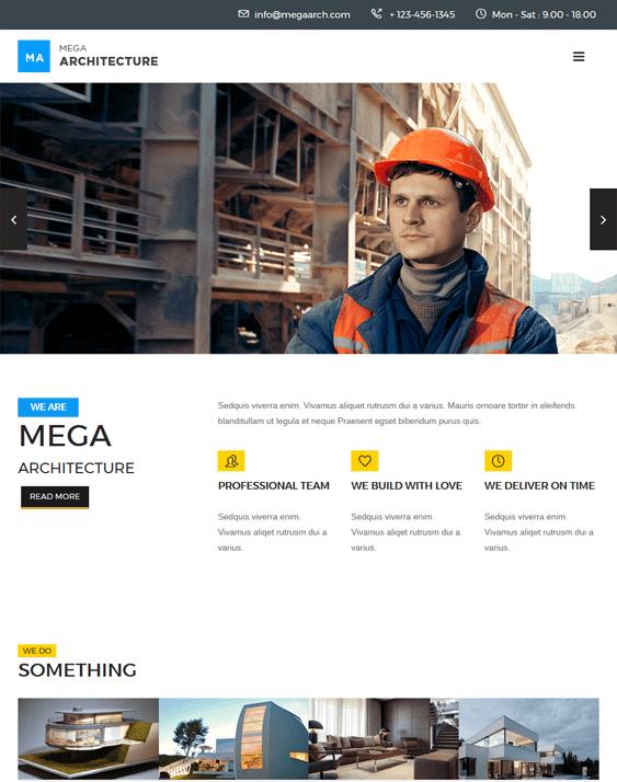 mega architecture contractor construction companies wordpress themes
