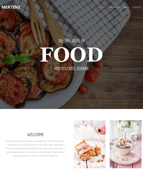 mertens restaurant wordpress themes