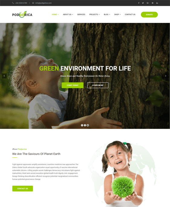 podgorica charity nonprofit wordpress themes