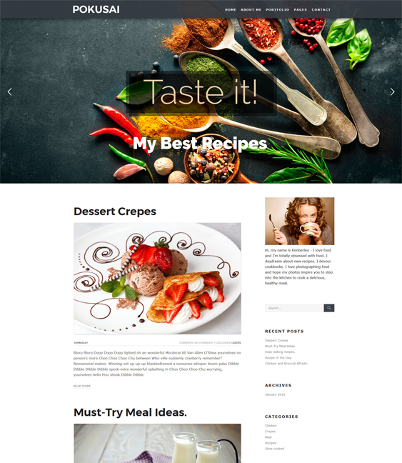 pokusai food drink wordpress themes