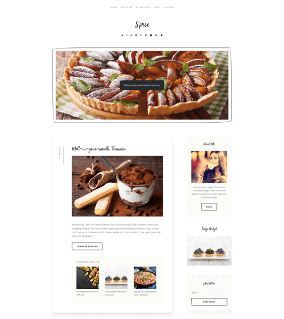 spice food drink wordpress themes
