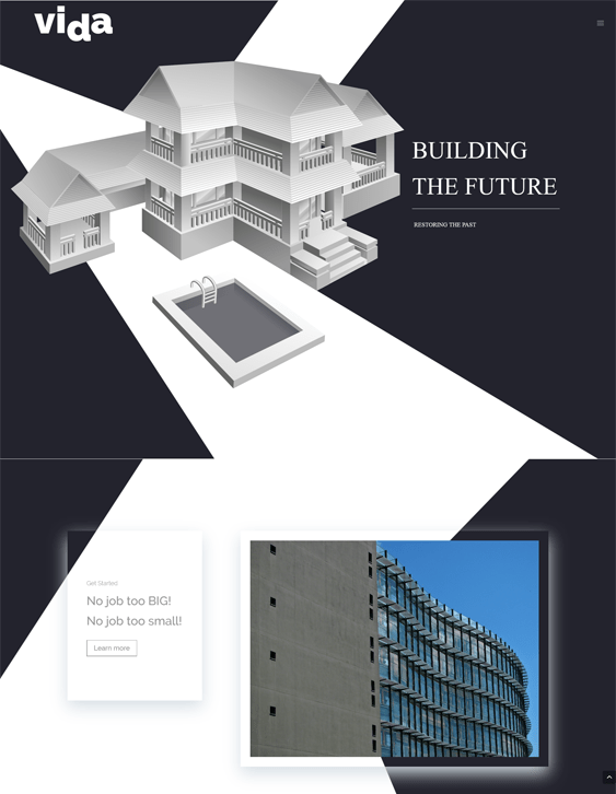 vida contractor construction companies wordpress themes