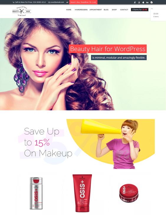 beauty salon spa wordpress themes