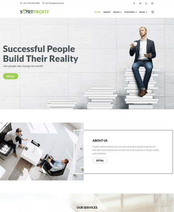 business finance wordpress themes
