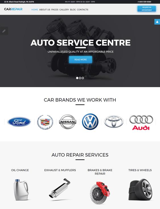car vehicle automotive joomla templates repair