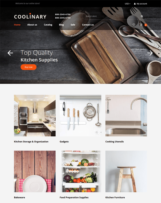 coolinary shopify themes interior design home decor stores