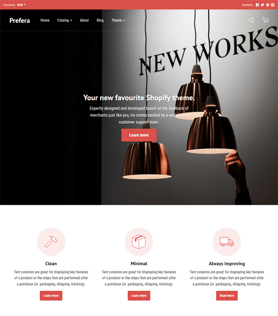 ira shopify themes interior design home decor stores