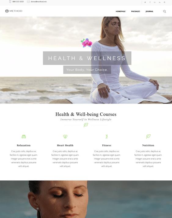 method beauty salon spa wordpress themes
