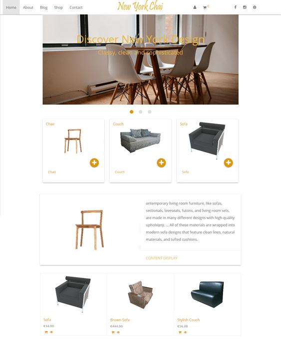 new york chai furniture store wordpress themes