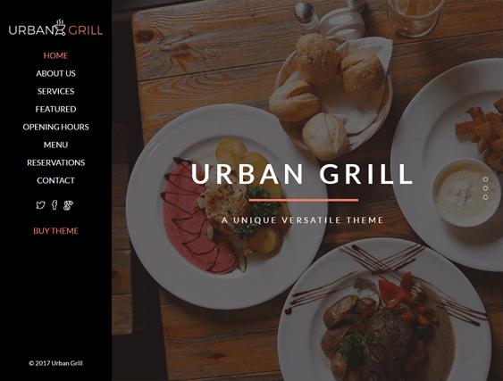 urban grill restaurant wordpress themes