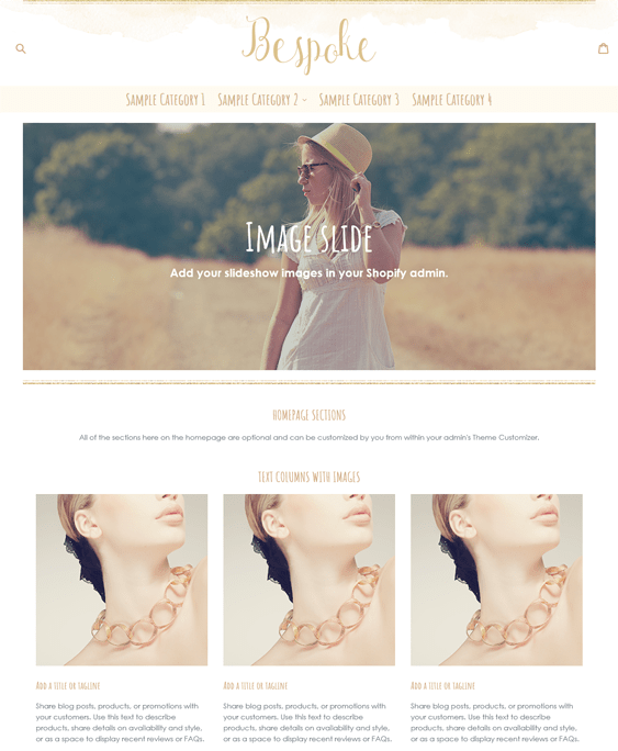 boho gold jewelry store shopify themes