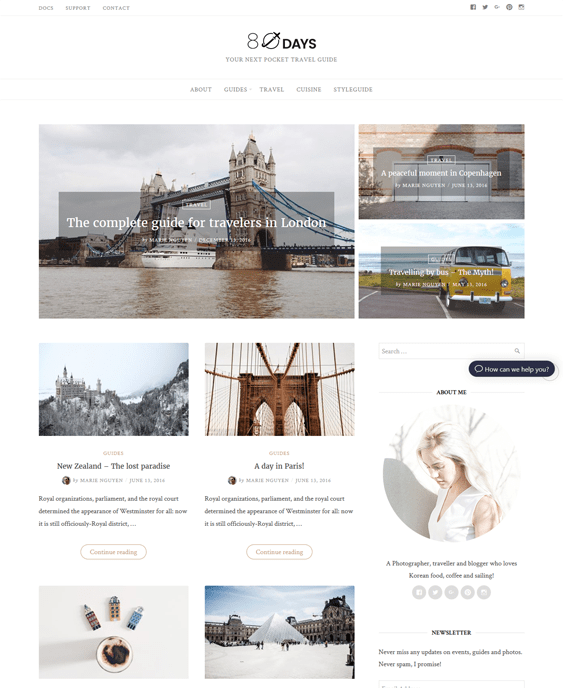 eightydays travel wordpress theme