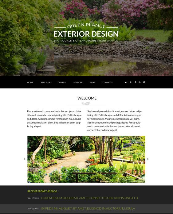 Exterior Design landscaper gardener joomla templates