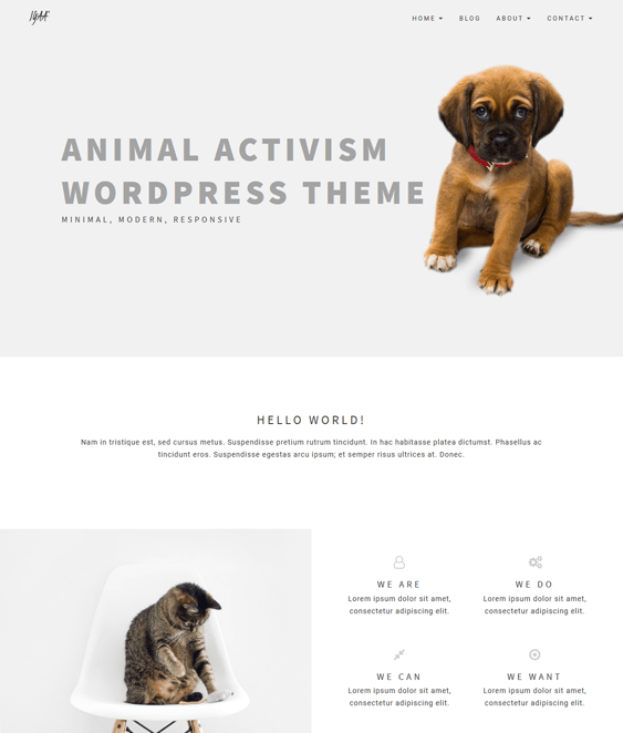 igaa pets vets wordpress theme