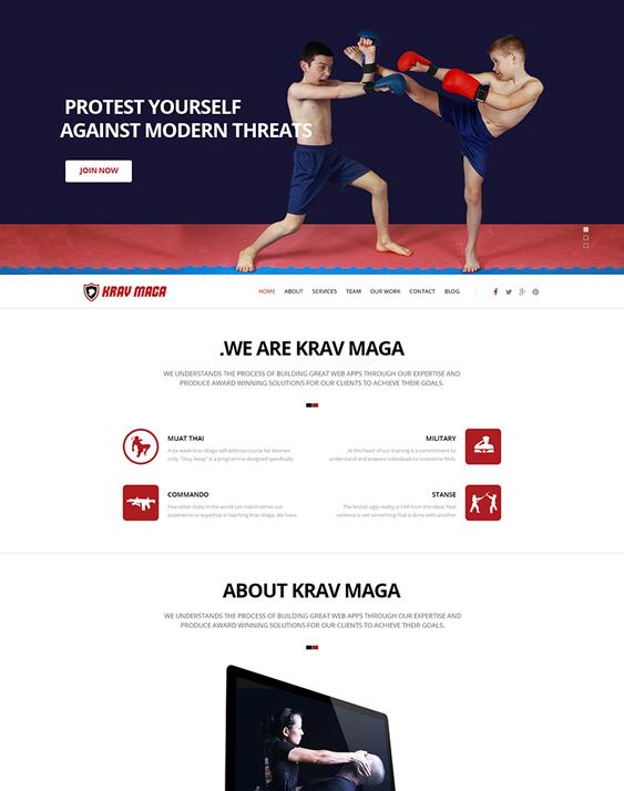 krav maga fitness wordpress themes