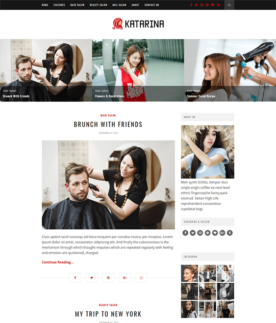katarina beauty salon spa wordpress themes