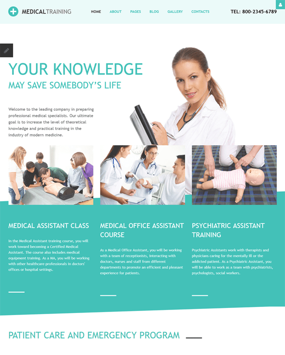 med school medical Joomla template