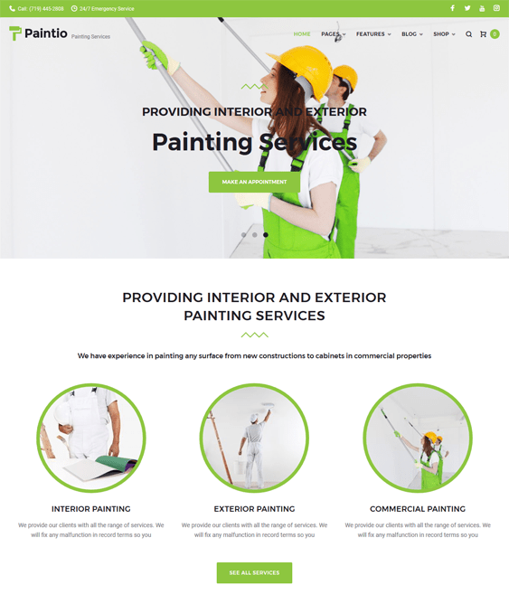 paintio construction company building contractors wordpress themes