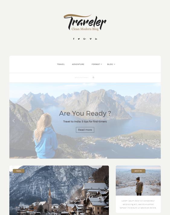 traveler travel wordpress theme