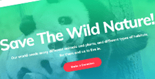 best wordpress themes wildlife park charity feature