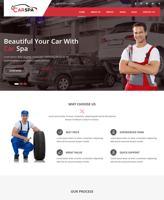carspa car vehicle automotive wordpress themes