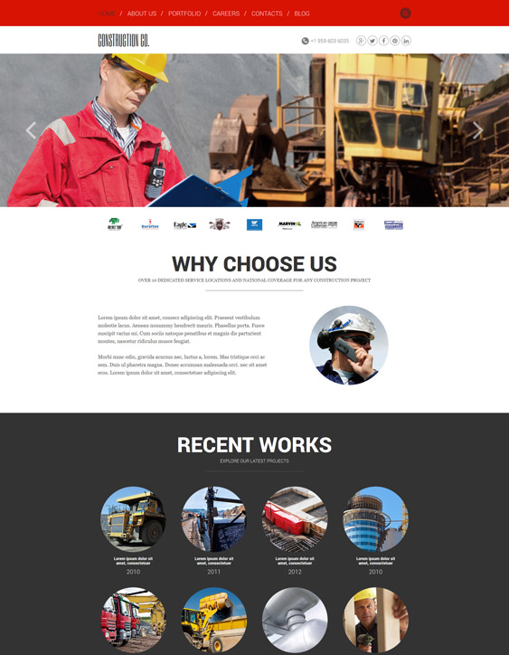agency joomla templates construction companies building contractors