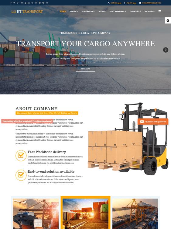 et transport transportation joomla templates