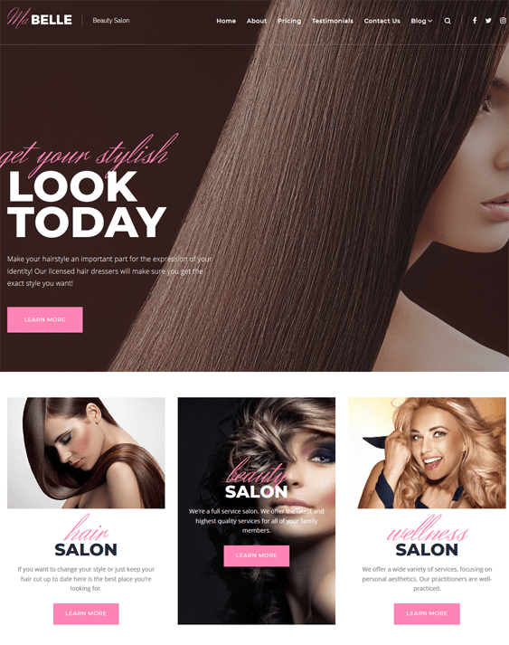 mabelle wordpress themes beauty salons spas