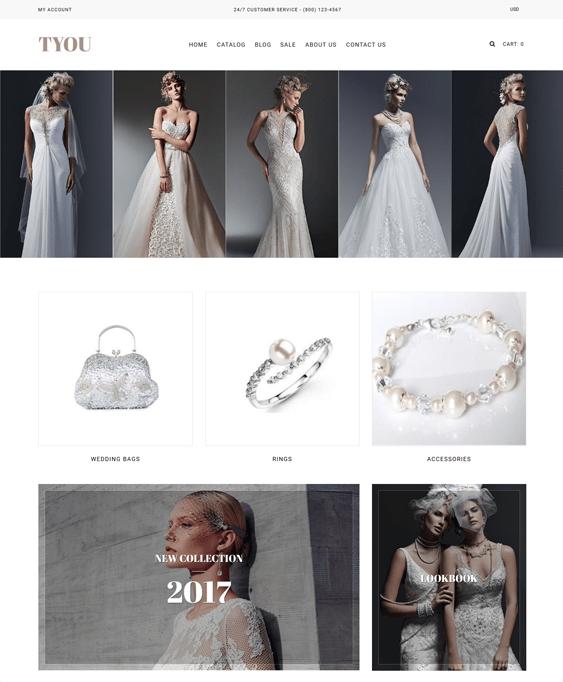 wedding fashion shopify themes clothing stores