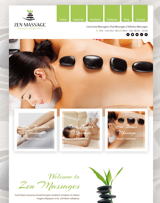 zen wordpress themes beauty salons spas