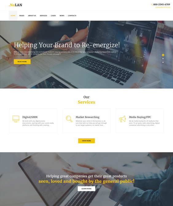 9 of the Best WordPress Themes for Advertising Agencies – <br />down