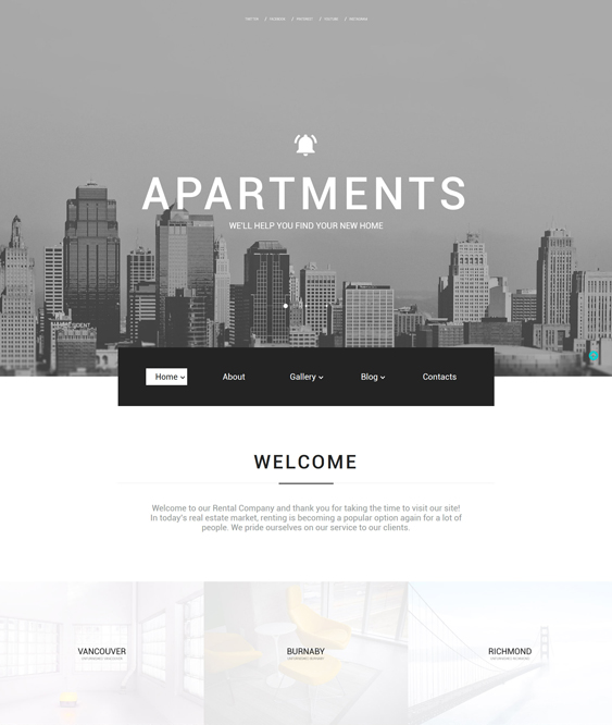 Apartments real estate bootstrap website templates
