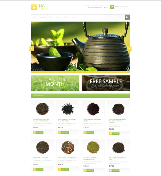 Bracing Tea shop Store Magento Theme