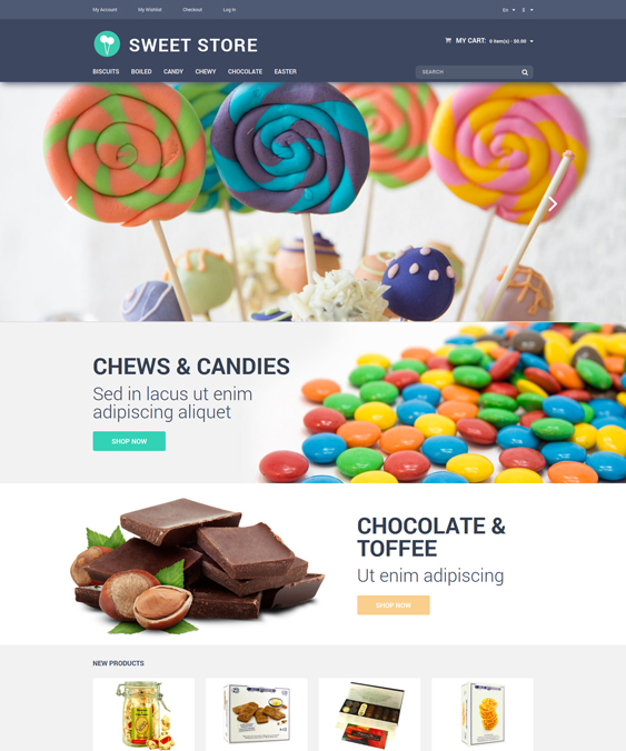 Candy Web food store magento themes
