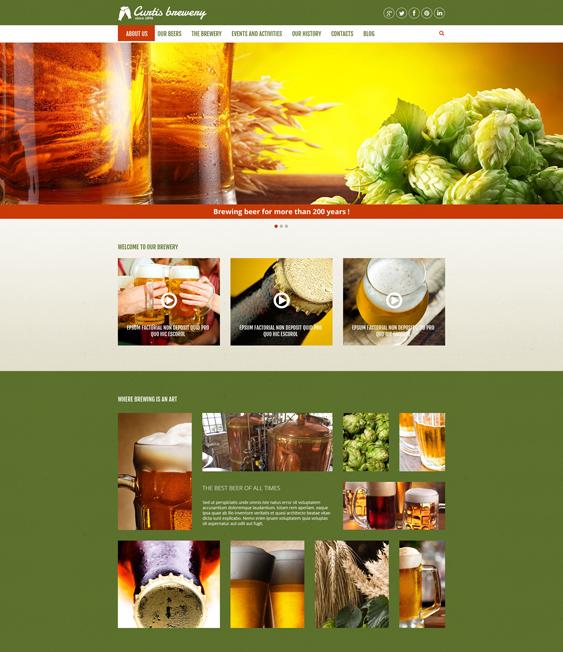 Curtis Brewery Joomla Template