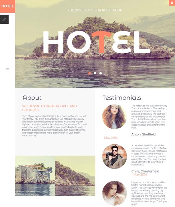 hotels joomla templates