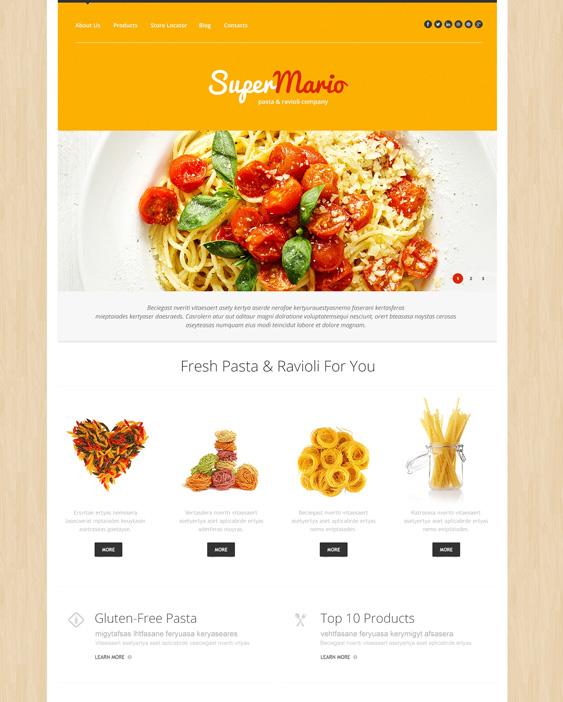 Food & Drink responsive italian restaurant wordpress themes