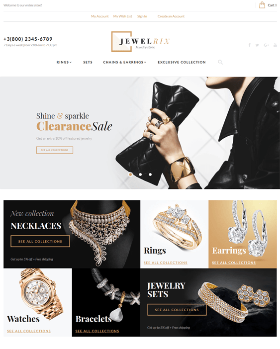 jewelrix magento themes jewelry stores